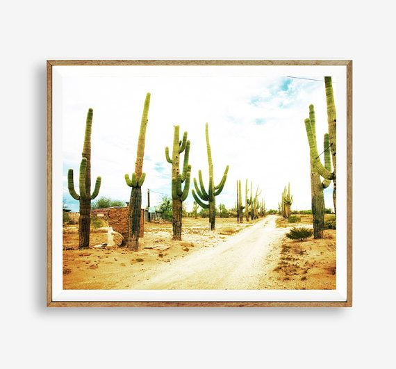 Cactus Print Western Decor Arizona Modern Art Wall Decor Digital Art Printable Digital Poster Ins Western Decor Modern Southwest Decor Western Decor Diy