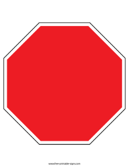 Download This Printable Blank Stop Sign That Can Be Used For Creating Custom Signs The Sign Has An Octagon Shape And Stop Sign Shape Stop Sign Printable Signs