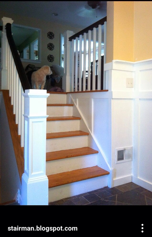 Split Level Stairs Update Updating House Stair Remodel Living