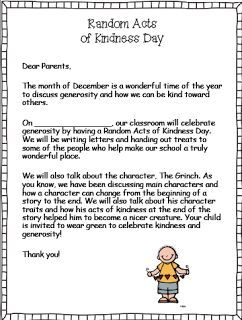 Random Acts of Kindess Day (read the story The Grinch to