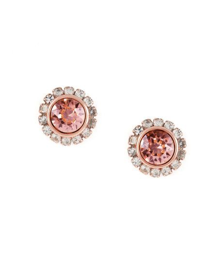 7d93616c3 SULLY | Crystal stud earrings - Pale Pink | Jewellery | Ted Baker ...