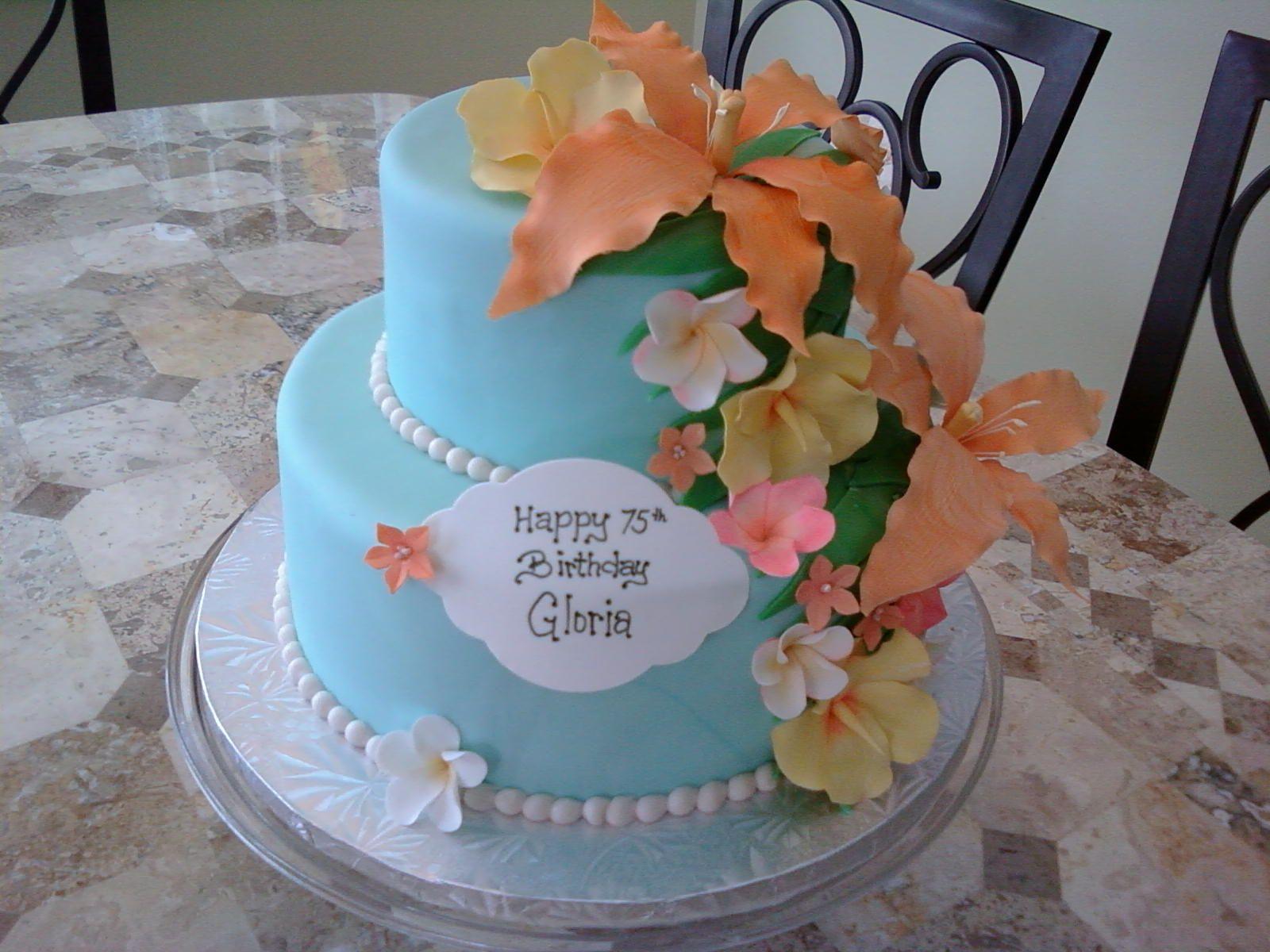 Luau Cakes For Adults Tier Luau Birthday Cake All Gumpaste