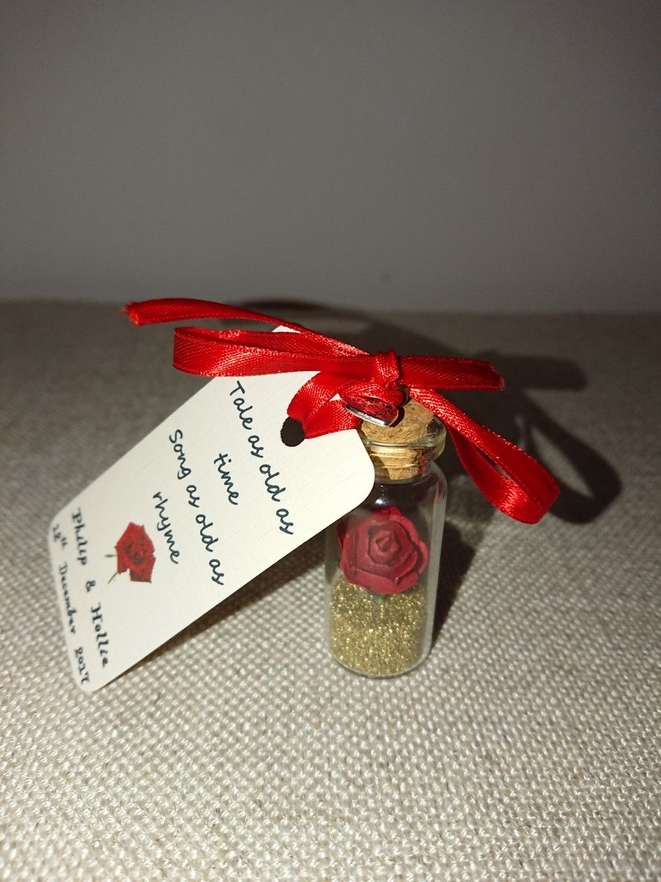 Beauty And The Beast Wedding Favour Loved Making These Beauty And Beast Wedding Beauty And The Beast Wedding Theme Disney Wedding Favors