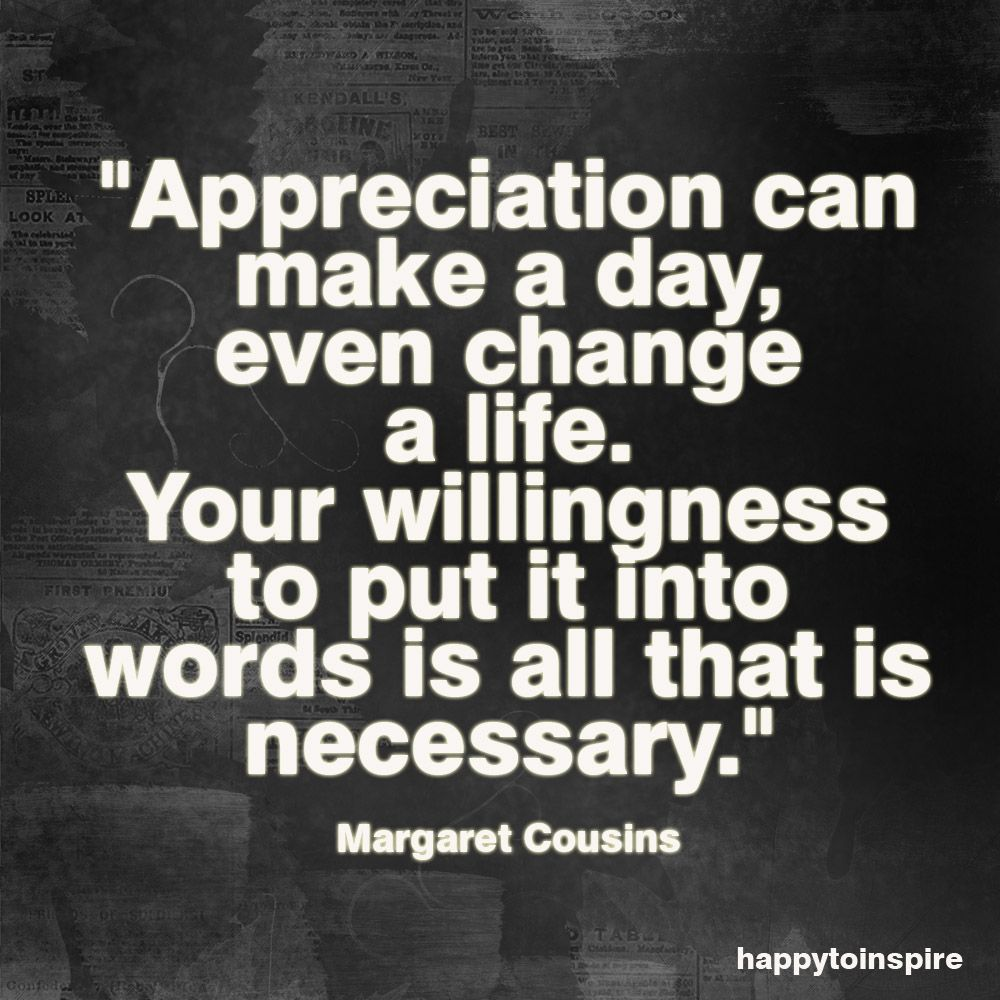 Quotes of Appreciation | Quote of the Day: Appreciation can ...