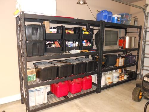 Husky 77 In W X 78 In H X 24 In D Steel Shelving Unit Erz782478w 4 At The Home Depot Mob Garage Shelving