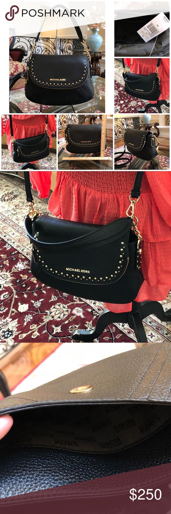 636444c5bd64 NWT Michael Kors studded Aria MD Conv Handbag Guaranteed Authentic NWT  MICHAEL KORS STUDDED MD CONV