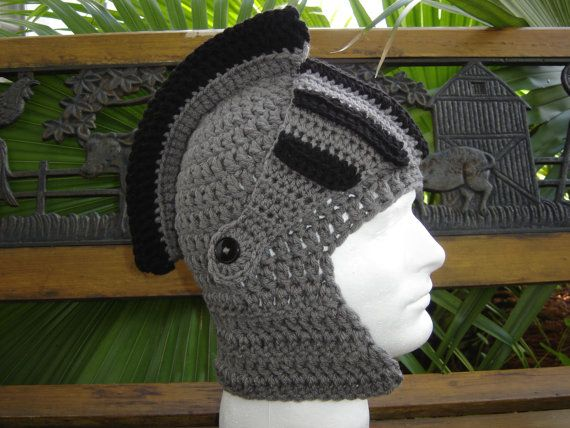 Build Your own Custom Medevil Knight   Gladiator   Spartan beanie Winter hat  face warmer..... You choose colors and size on Etsy 509507643d3