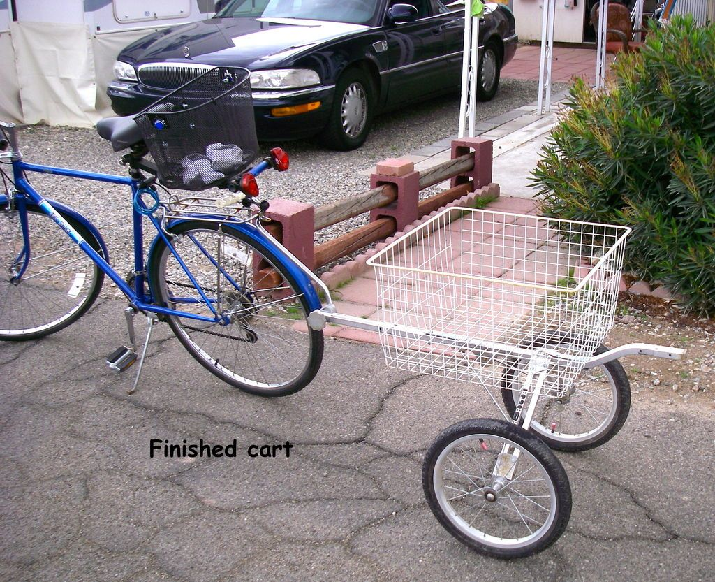 Bicycle Utility Cart From Old Golf Pull Cart Bike Cart Bicycle Cart Bicycle