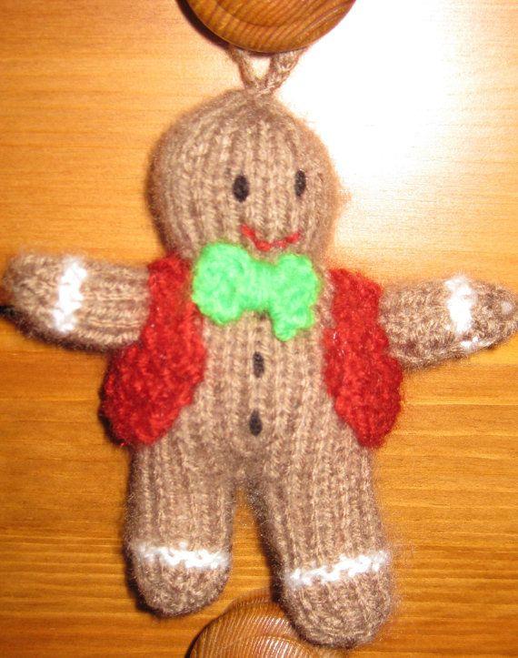 Gingerbread Man Xmas Tree Decoration Pdf Knitting Pattern Instant