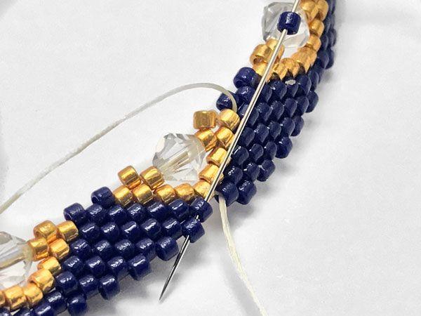 Photo of DIY Peyote Armband aus geflochtenem Armband mit Miyuki Delicas Perlen
