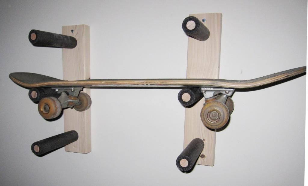 Merveilleux Skateboard Storage Rack | Triple Up Another Idea. I Could Probably Make  This.