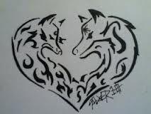 Tribal Wolf And Fox Tattoo Google Zoeken Tribal Fox Tribal Animal Tattoos