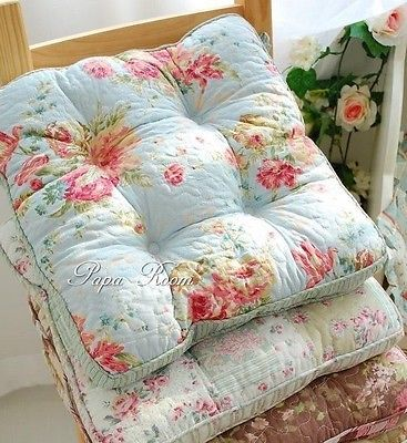 Shabby Chic Style Crochet Kitchen Dining Chair Pad Cushion ~New~