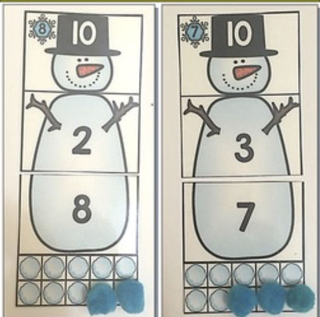 Frosty Addition Winter Math Centre Activities Addition
