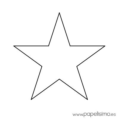 Estrella imprimir, colorear y recortar 4 PLANTILLAS