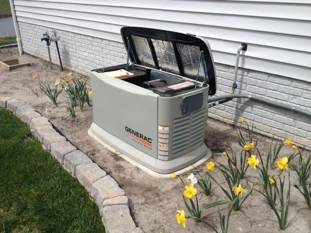 Generac Generator On Genpad In Milton Delaware Whole House Generators Design Builder Custom Home Builders