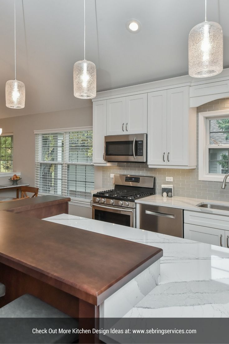 transitional style kitchen remodeling project - naperville il
