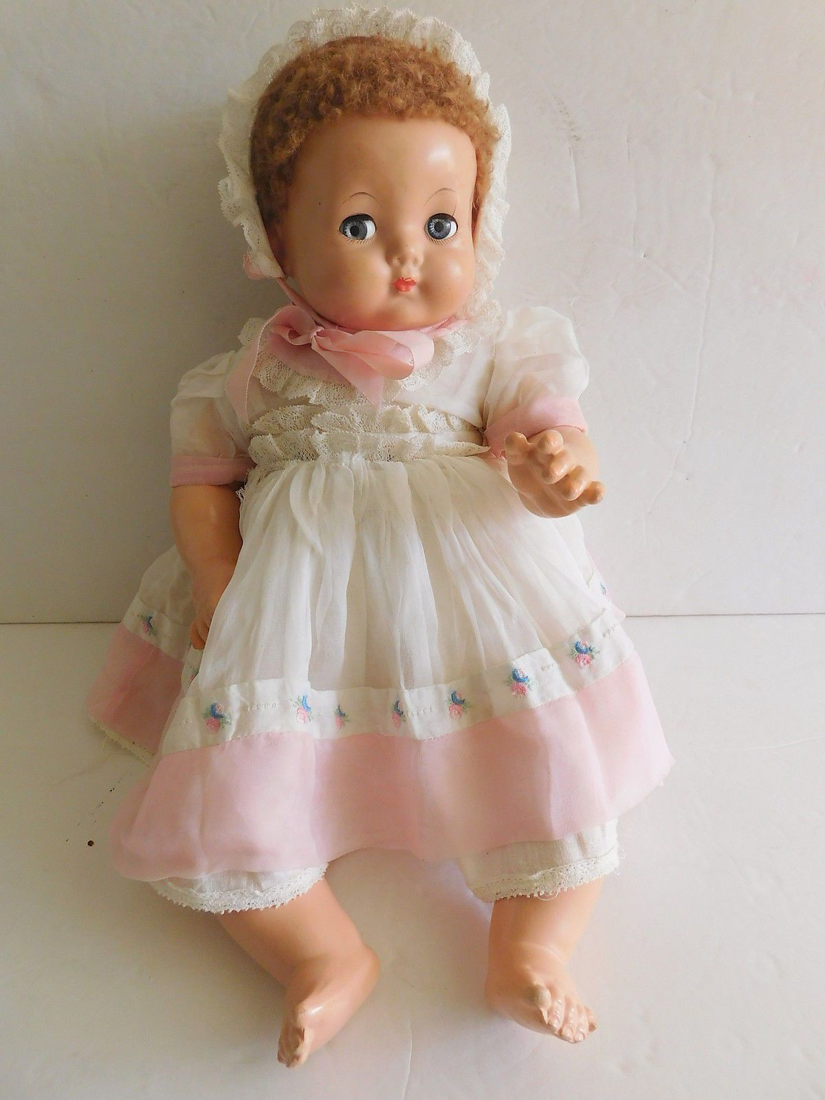 1930 S Effanbee Sweetie Pie Composition Flirty Eyes 18 Baby Doll