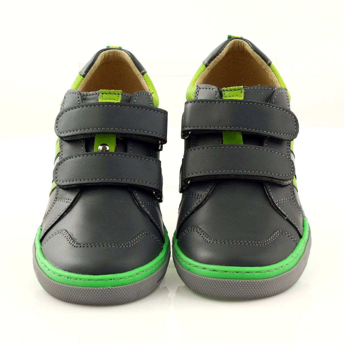 Shoes With A Reflective Element Bartus Green Grey Childrens Shoes Kid Shoes Shoes