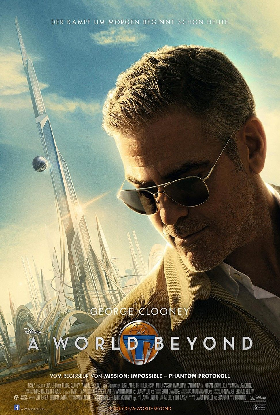 Tomorrowland Extra Large Movie Poster Image Internet Movie Poster Awards Gallery Carteles De Peliculas Peliculas Completas Carteles De Cine
