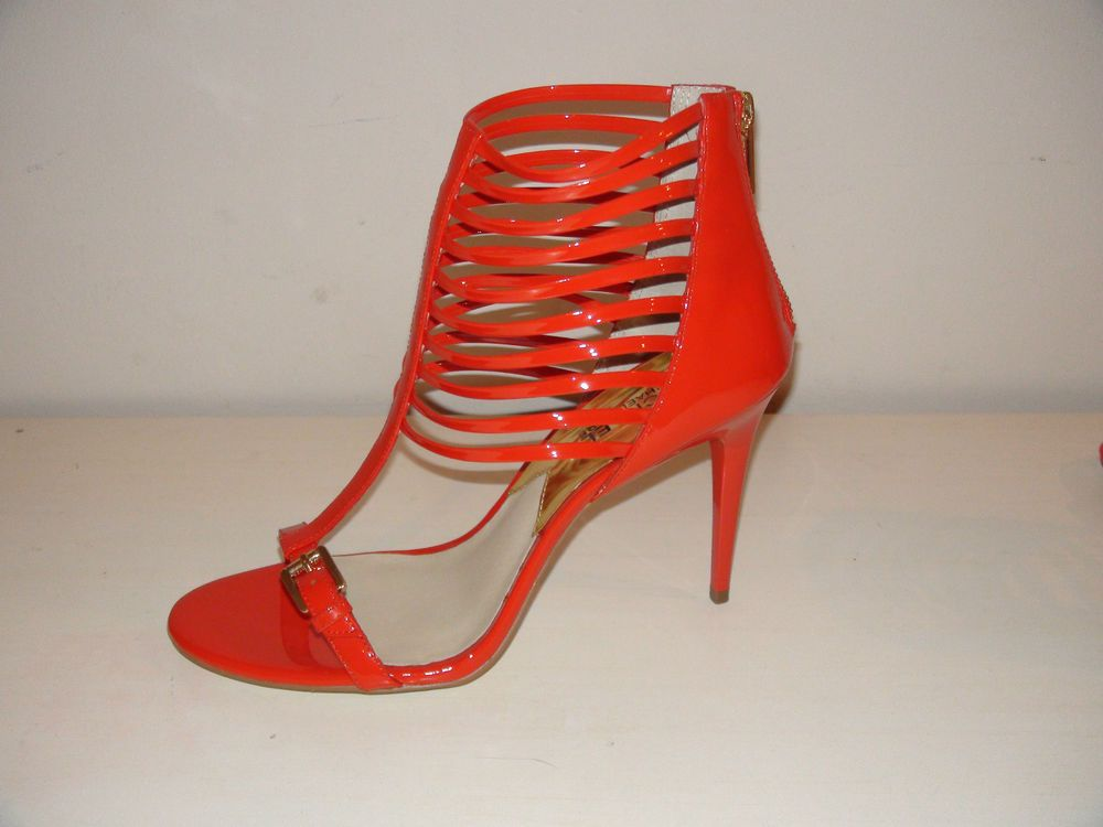 Michael Kors RedOrange Strappy Stiletto Heel open toe