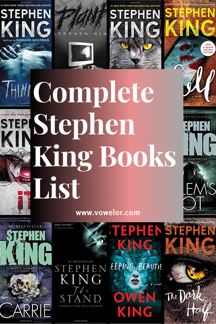 Complete Stephen King Books List & Latest Novels (Chronological Order) is part of Stephen king books, Stephen king books list, King book, All stephen king books, Stephen king novels, Stephen king - When it comes to Horror books, Stephen King is the first name that pops to anyone's mind and Stephen King books make up for the best postapocalyptic novels and zombie books which are an ultimate