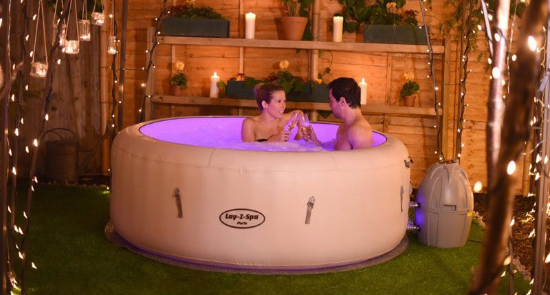 Lay Z Spa Paris Inflatable Hot Tub Review With Led Lights Hot Tub Garden Inflatable Hot Tubs Hot Tub Outdoor