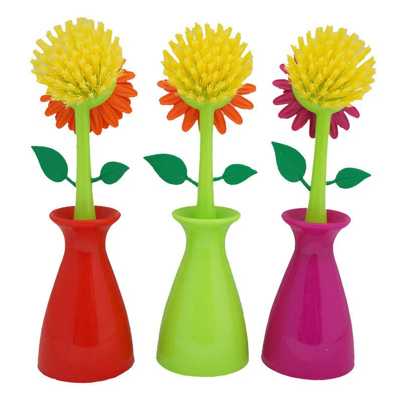 Creative Sun Flower Cleaning Brush Pan Pot Cleaning Tool