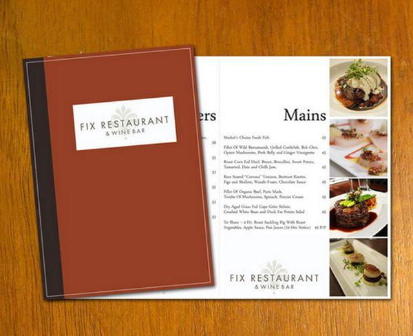 free restaurant menu template example graphics pinterest menu