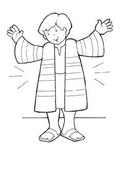 Joseph Coat Coloring Pages Bible Printables