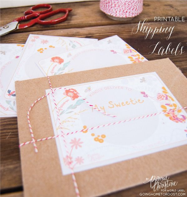FREE PRINTABLE Valentines Day \ Spring Shipping Labels by Bonnie - free printable shipping labels