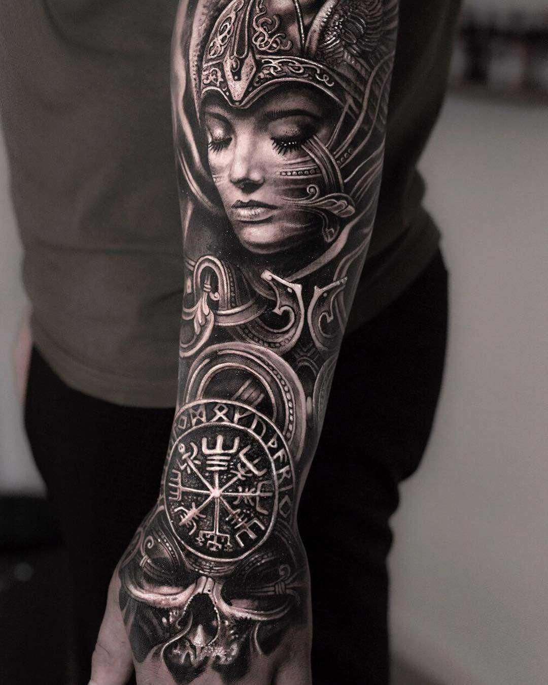 Caring For A New Tattoo Viking tattoo sleeve, Valkyrie