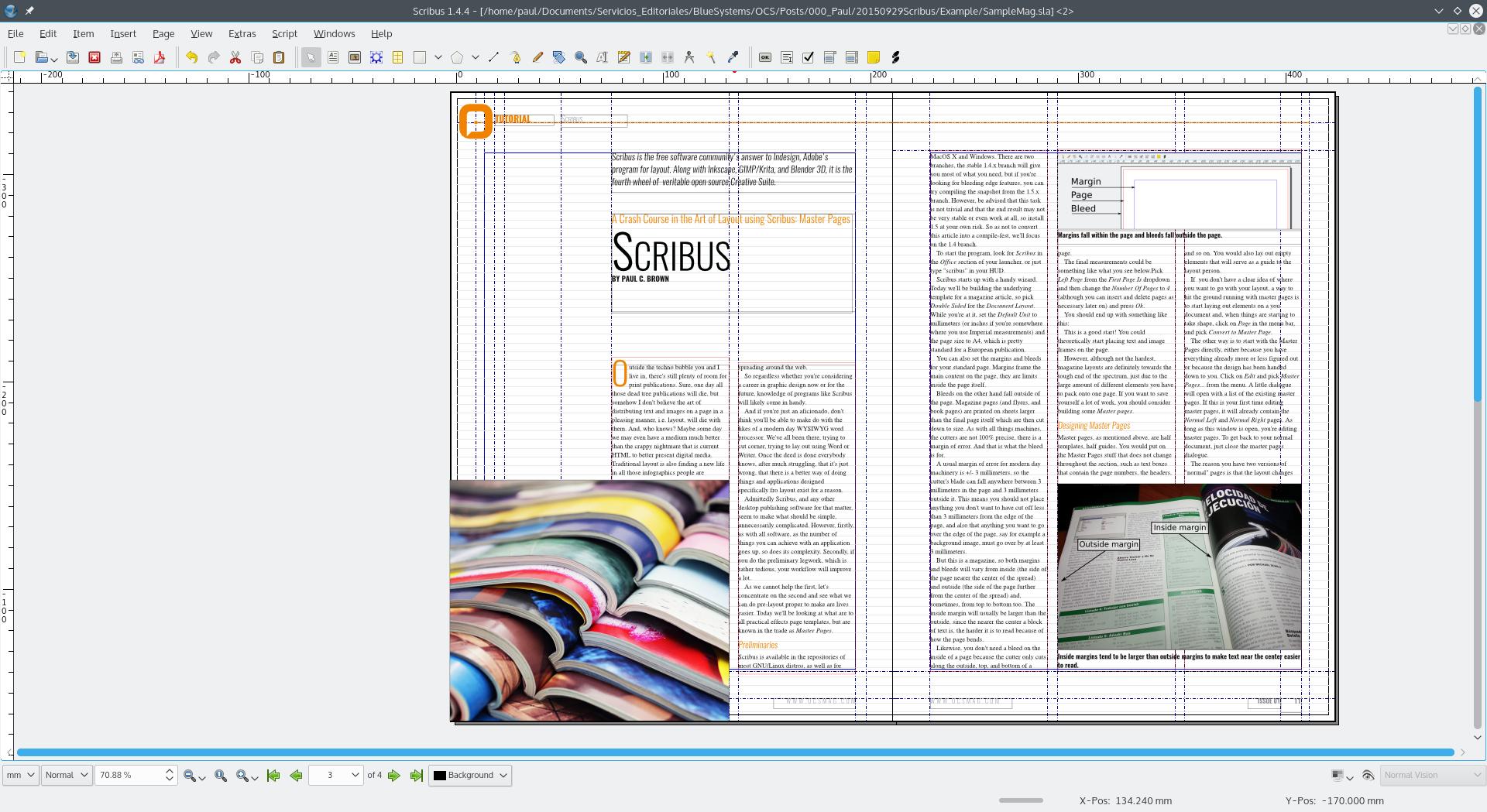 scribus newspaper template.html