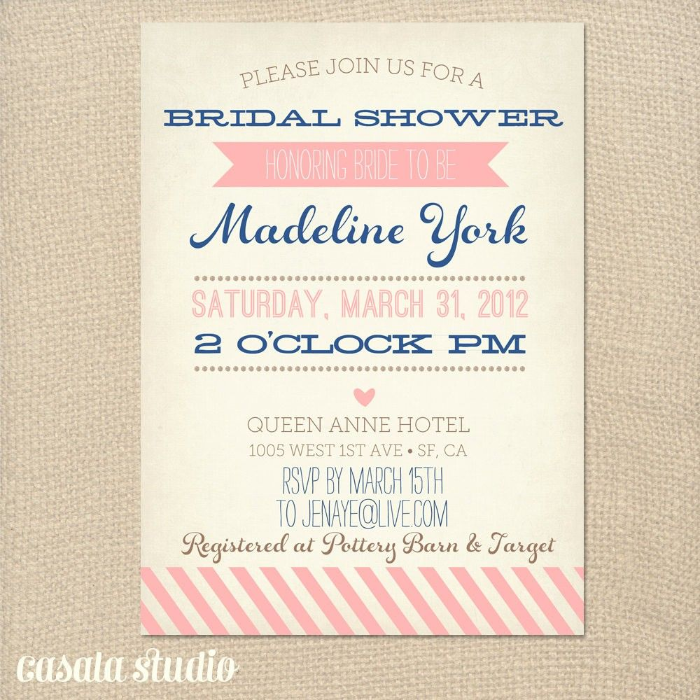 Free Bridal Shower Invitation Template – Bridal Shower Invitation Templates for Word