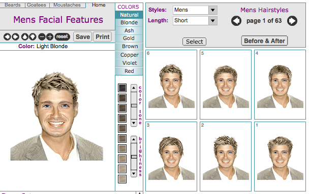 Virtual Hairstyle Men's Virtual Hairstyle Makeovers Online Tool  Ideas For The House