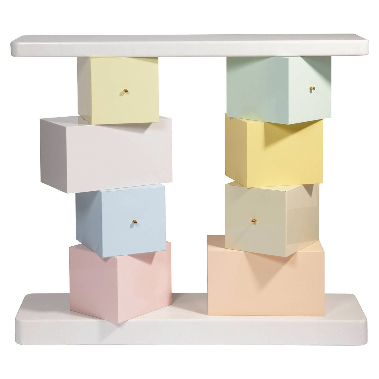 Love the Cubica Console by Ettore Sottsass in pastel hues ... for Ettore Sottsass Sofa  51ane