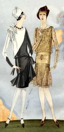 Art deco fashion dress