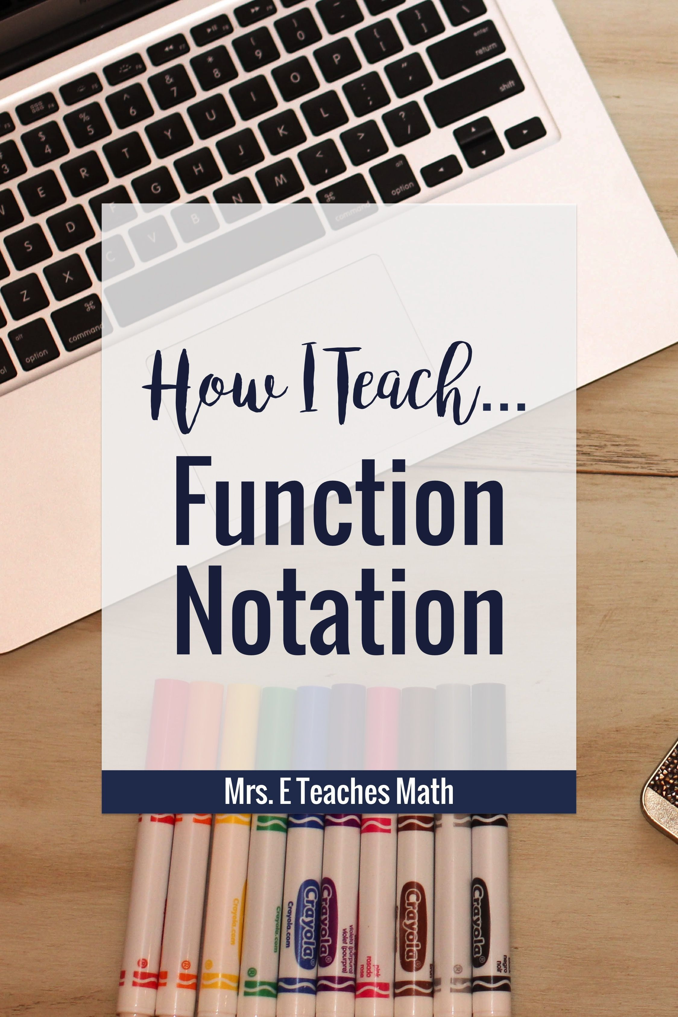 How I Teach Function Notation