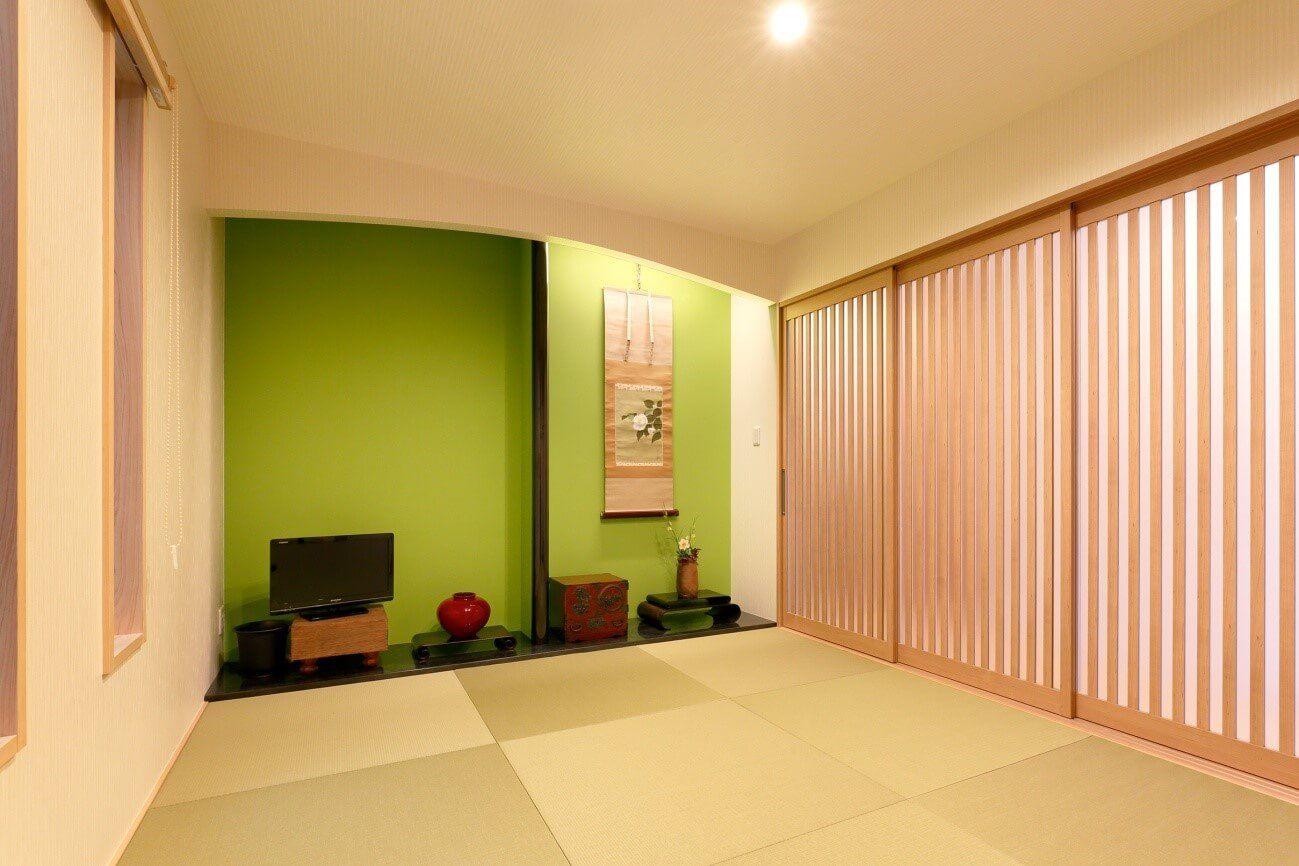 施工事例 世田谷 カラフルにインテリアを楽しむ 和洋折衷の家