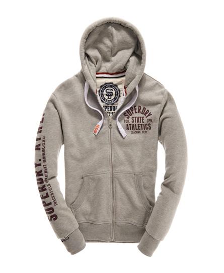 mens track \u0026 field zip hoodie in grey marl superdry men style  mens track \u0026 field zip hoodie in grey marl superdry