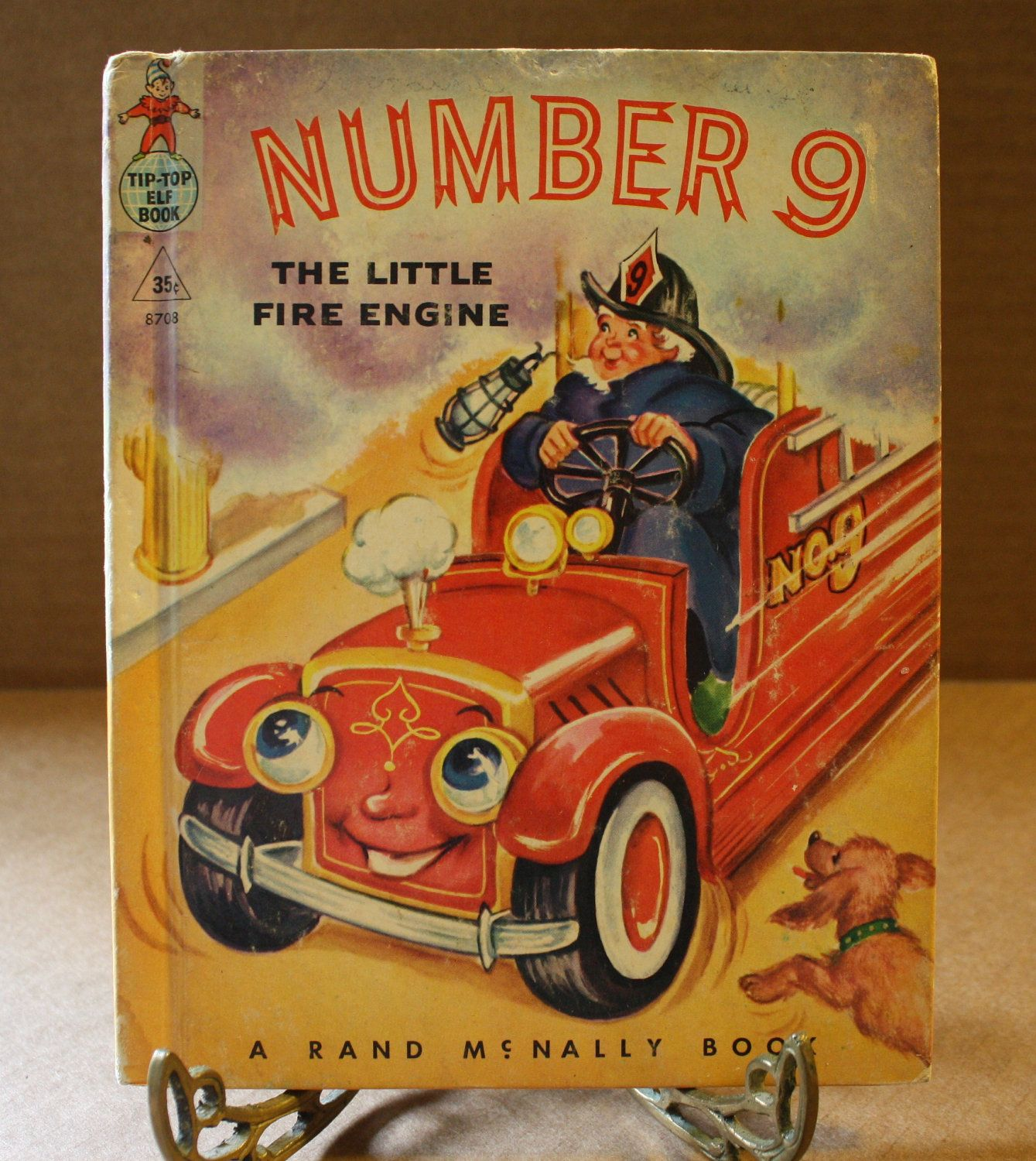 Number 9 The Little Fire Engine Rand Mcnally Elf Children