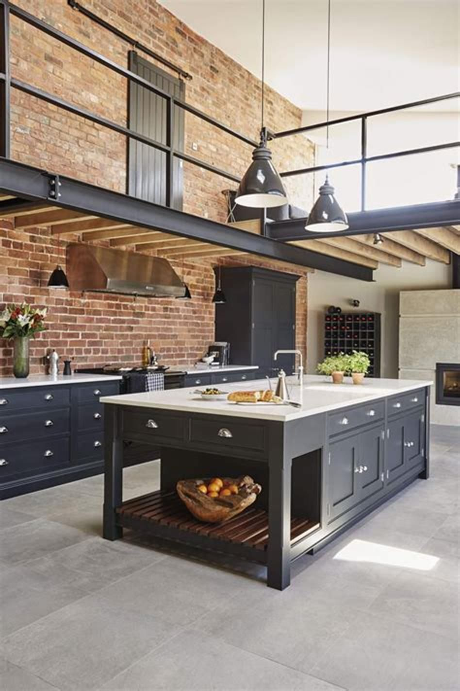 42 Most Popular Industrial Kitchen Design And Decor Ideas Decorecent Loft Kitchen Industrial Kitchen Design Industrial Style Kitchen