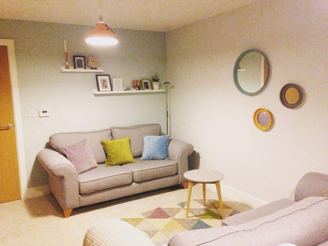 Living Room Scheme Sofas Dfs Pictures Shelves IKEA Table Tesco Rug Beneta Lights Dunelm Cushions