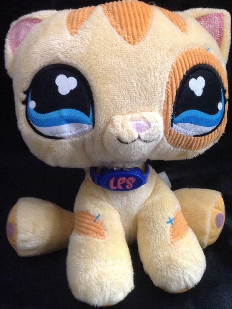 Littlest Pet Shop Cat Plush Stuffed Animal 9 Yellow Striped Kitten