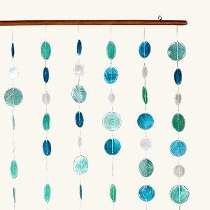 Amelia Blue And Green Capiz Shell Curtain By Serena Milne Capiz