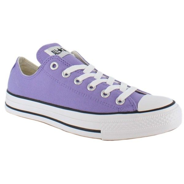 32b73e6a5878 Converse All Star Chuck Taylor Ox Light Purple Mens Shoes ( 7.74) ❤ liked  on Polyvore