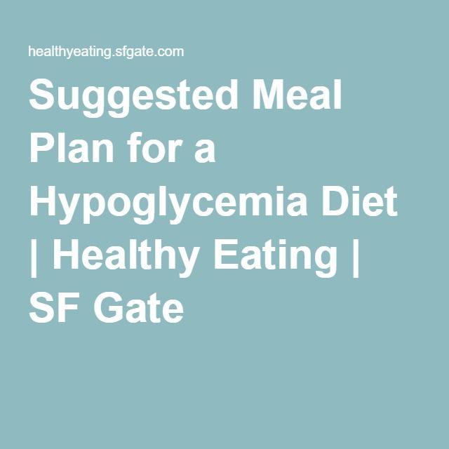 Photo of Vorgeschlagener Ernährungsplan für eine Hypoglykämie-Diät