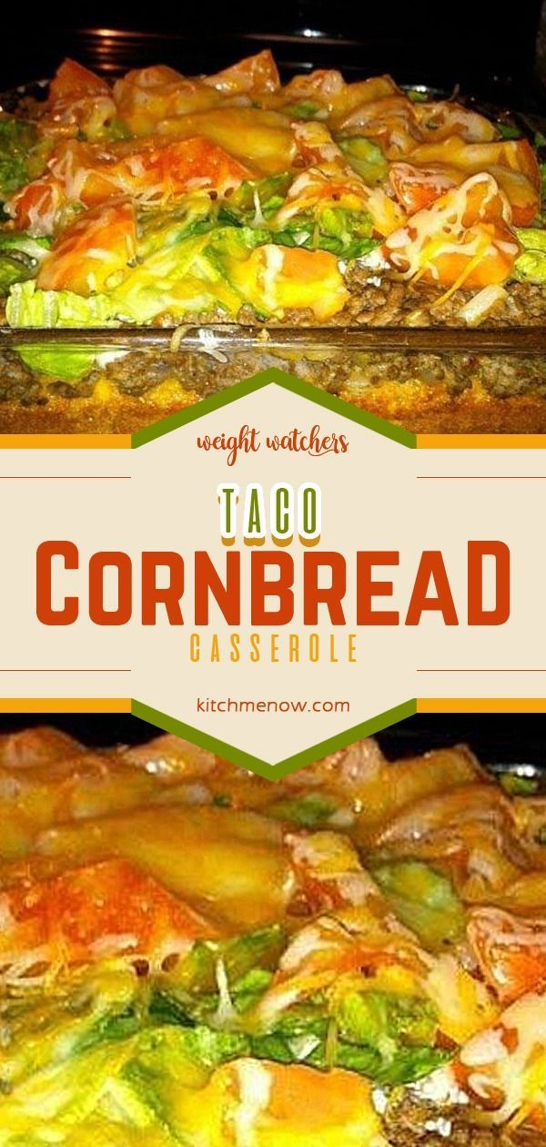 Taco Cornbread Casserole #weightwatchers #weight_watchers #WW #Taco #Cornbread #Casserole #recipe #yummy #mexicancornbreadcasserole