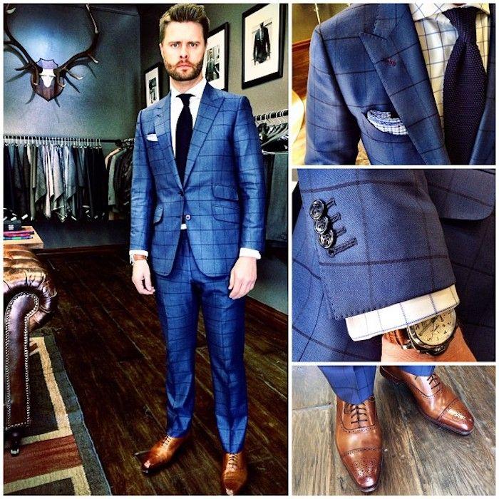 1001 ideen wie blauer anzug braune schuhe und passende accessoires kombiniert werden braune. Black Bedroom Furniture Sets. Home Design Ideas