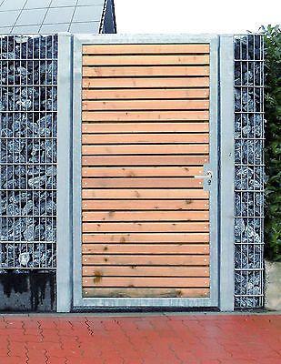 Photo of Törchen 125 x 180cm 1-flügelig Verzinkt + Holz Tor Gartentor Holztor Pforte Per …